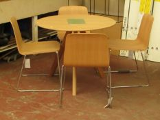 | 1X | COPENHAGUE DINING TABLE CPH20 WITH 4X NORMANN COPENHAGEN JUST CHAIRS | LOOKS UNUSED (NO