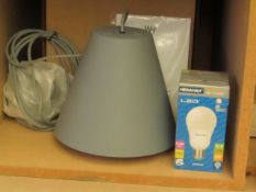 | 1X | WHI SINKER PENDANT LAMP | UNTESTED BUT LOOKS UNUSED (NO GUARANTEE), BOXED | RRP £215.00 |