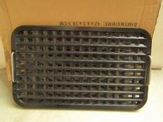 | 1X | SMOKELESS GRILL GRIDDLE PLATES | BOXED AND UNTESTED | NO ONLINE RESALE | SKU - | RRP £ - |