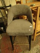 Grey Bar Stool. Needs attention on the leg and a good clean