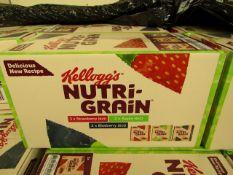 2 Boxes of 7 Packs of 6 Kellogs Nutri Grain Bars. BB 08/08/20
