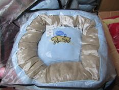 """5x Snoozzzeee Cat - Baby Blue Donut Cat Bed - (20""""/51cm) - All New & Packaged."""