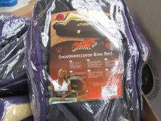 """5x Snoozzzeee Dog - Bow Purple Dog Bed (19"""") - All New & Packaged."""