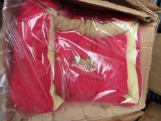 """4x Snoozzzeee Dog - Cherry Red Sofa Dog Bed (32"""") - All New & Packaged."""