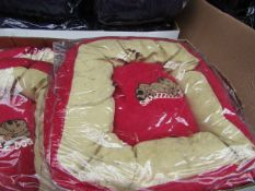 5x Snoozzzeee Dog - Cherry Red Donut Dog Bed (Size 1) - All New & Packaged.