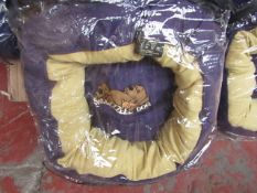 """10x Snoozzzeee Dog - Purple Donut Dog Bed (20"""") - All New & Packaged."""