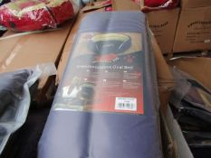 """5x Snoozzzeee Dog - Purple Oval Dog Bed (32"""") - All New & Packaged."""