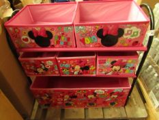 Minnie Mouse Metal Storage Unit. Unused & Complete
