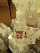 12 x 150ml Scruffy Mutt Spritz Sprays. Unused