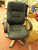 Classic Office Chair in Black & Chrome. New & Boxed