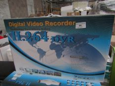 Digital Video Recorder (H.264 DVR), unchecked and boxed. Functions compatible include; phone output,