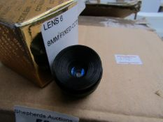 Approx 20x 8mm attachable lens for bullet cameras, unchecked and boxed.