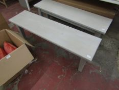 | 1X | COX & COX LOTTE BENCH GREY SOLID PINE 140CM | LOOKS UNUSED (NO GUARANTEE) | RRP £350.00 |