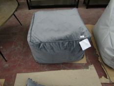 | 1X | GRANITE GREY VELVET FLOOR SEAT 60 X 60 X 40 CM | RRP £195  | LOOK UNUSED, NO GUARANTEE |