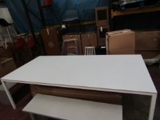 | 1X | HAY WHITE DINING TABLE 250 X 120CM | LOOKS UNUSED (NO GUARANTEE) | RRP £1055.00 | HAS 2