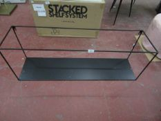 | 1X | BLACK METAL INDUSTRIAL SHELF 100  X 35  X 25 CM  | LOOKS UNUSED | RRP - £75 | NO GUARANTEE |