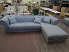 | 1X |  BRANAGH RIGHT HANDED CHAISE END SOFA | LOOKS UNUSED NO FEET (NO GUARANTEE)| RRP £1399 |