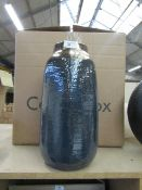 | 1X | COX & COX  RESIST GLAZED VASE 38 X 20 CM  | RRP £45 | LOOK UNUSED, NO GUARANTEE |