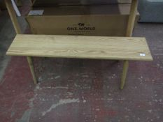 | 1X | COX & COX LONG ASH BENCH 120CM | LOOKS UNUSED (NO GUARANTEE) BOXED | RRP £275|