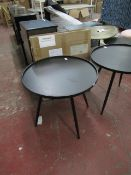 | 1X | COX & COX  INDUSTRIAL ROUND SIDE TABLE  | RRP £175 | BOXED | LOOK UNUSED, NO GUARANTEE |