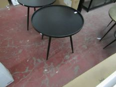 | 1X | COX & COX  INDUSTRIAL ROUND SIDE TABLE  | RRP £175 | LOOK UNUSED, NO GUARANTEE |