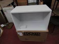 | 1X | MUUTO STACKED SHELF SYSTEM WITH BACKBOARD IN WHITE | LOOK UNUSED, NO GUARANTEE | RRP £136.