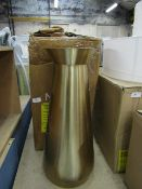 | 1X | MADE.COM BEAUMONT EXTRA LARGE CONICAL BRUSHED BRASS VASE 59 H X 20 D X 20 W CM | RRP £59