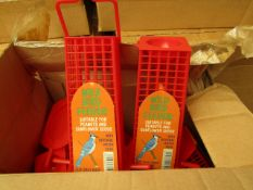 12x Wild Bird Feeder's with Integral Water Bowl - New & Boxed.
