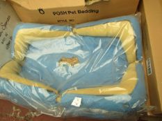"""1x Snoozzzeee Dog - Sky Blue Bow Dog Bed (36"""") - All New & Packaged."""
