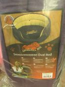 """1x Snoozzzeee Dog - Purple Oval Dog Bed (37"""") - All New & Packaged."""