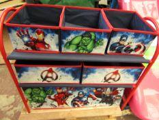 Marvel - Avengers Metal Storage Rack - Complete & New.