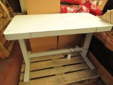 Tresanti Power Adjustable Height White Tech Desk with USB Ports. Tested Working. RRP £294.99