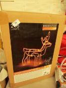 216 Lamp Outdoor christmas Reindeer Light up Ornament. Looks Unused