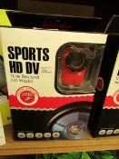 Sports HD DV Multipurpose Water Resistant Camera. Unused & Boxed