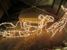 Outdoor light up Reindeer & Sleigh. New & Tested Working