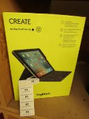 """Logitech Create For Ipad Pro 9.7"""". New & Boxed. RRP £175"""