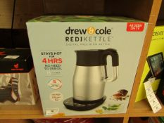   1X   DREW AND COLE REDIKETTLE 1.7L   REFURBISHED & BOXED   NO ONLINE RE-SALE   SKU