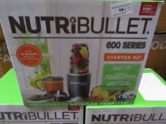 | 3x | NUTRIBULLET 600 SERIES STARTER KIT | UNCHECKED AND BOXED | NO ONLINE RE-SALE | SKU - | RRP £