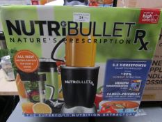 | 4X | NUTRI BULLET RX SERIES HEALTH BLENDERS | UNCHECKED AND BOXED | NO ONLINE RESALE | SKU