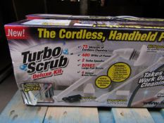 | 2X | TURBO SCRUB DELUXE CORDLESS HAND HELD POWER SCRUBBER | UNCHECKED AND BOXED | SKU