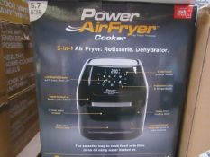 | 5X | POWER AIR FRYER COOKERS | UNCHECKED AND BOXED SOME MAY BE IN NON PICTURE BROWN BOXES| NO