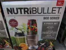 | 4X | NUTRI BULLET 900 SERIES | UNCHECKED AND BOXED | NO ONLINE RESALE | SKU C5060191467353 |