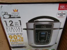| 6X | PRESSURE KING PRO 12 IN 1 5LTR PRESSURE COOKER | UNCHECKED AND BOXED SOME MAY BE IN NON