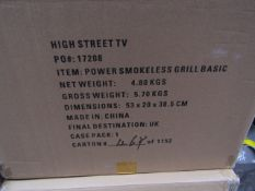 | 3X | POWER SMOKELESS GRILL | UNCHECKED AND BOXED | NO ONLINE RESALE | SKU - | RRP £ 79.99 |