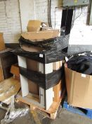 | 7X | PALLETS OF SWOON SALVAGE FURNITURE, TYPICAL ITEMS INCLUDE SIDE BOARDS AND MEDIA UNITS TO SIDE