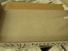 10x Packs of 5 Natural Pebble 300x600 wall and Floor Tiles By Johnsons, New, the RRP per pack is £