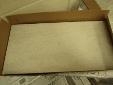10x Packs of 5 Ashlar Weathered White Tex tured 300x600 wall and Floor Tiles By Johnsons, New, the