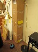 | 1X | COX & COX BRASS CONE WITH DARK TONE MARBLE BASE FLOOR LAMP RRP £275 | HAS EURO PLUG LOOKS