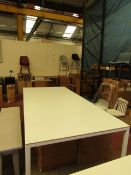 | 1X | HAY WHITE DINING TABLE 250 X 120CM | LOOKS UNUSED (NO GUARANTEE) | RRP £1055.00 | HAS 2