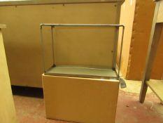 | 1X | COX & COX GARDEN TRADING SMALL RAW STEEL BOX SHELF 32 X 48 X 18 CM RRP £45 | LOOKS UNUSED